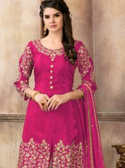 Hot Pink Lace Designer Pakistani Suit