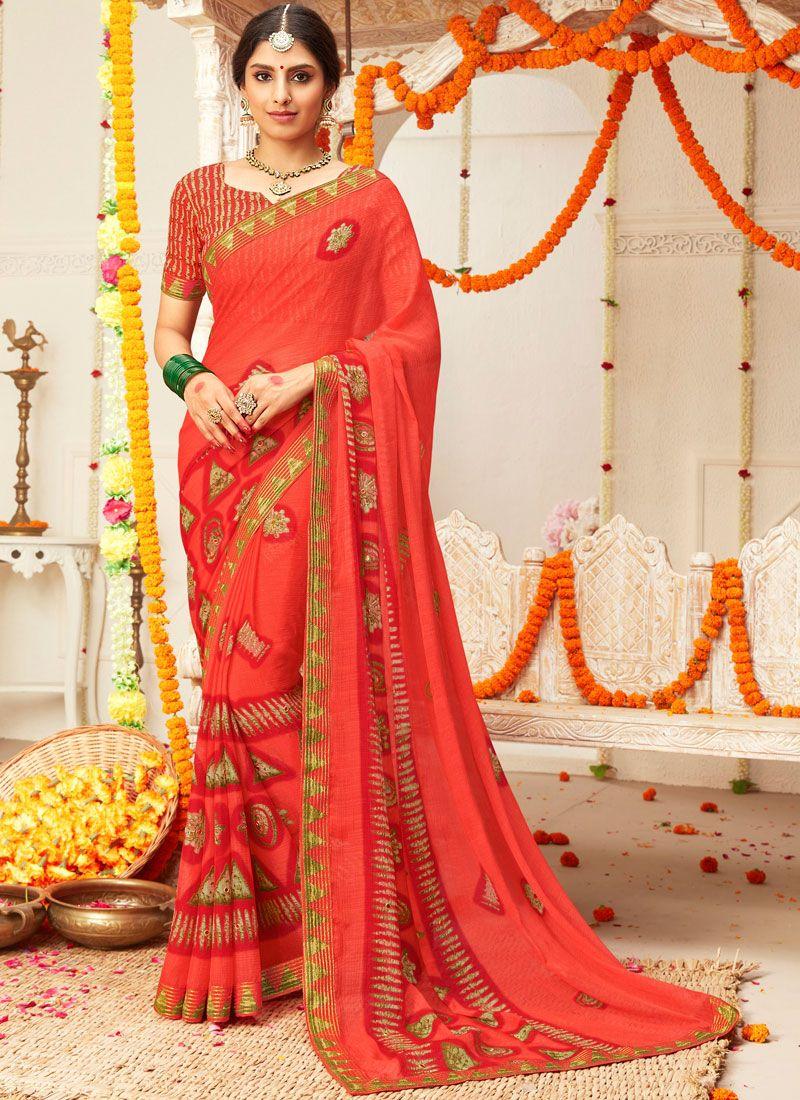 Hot Pink Lace Mehndi Classic Saree