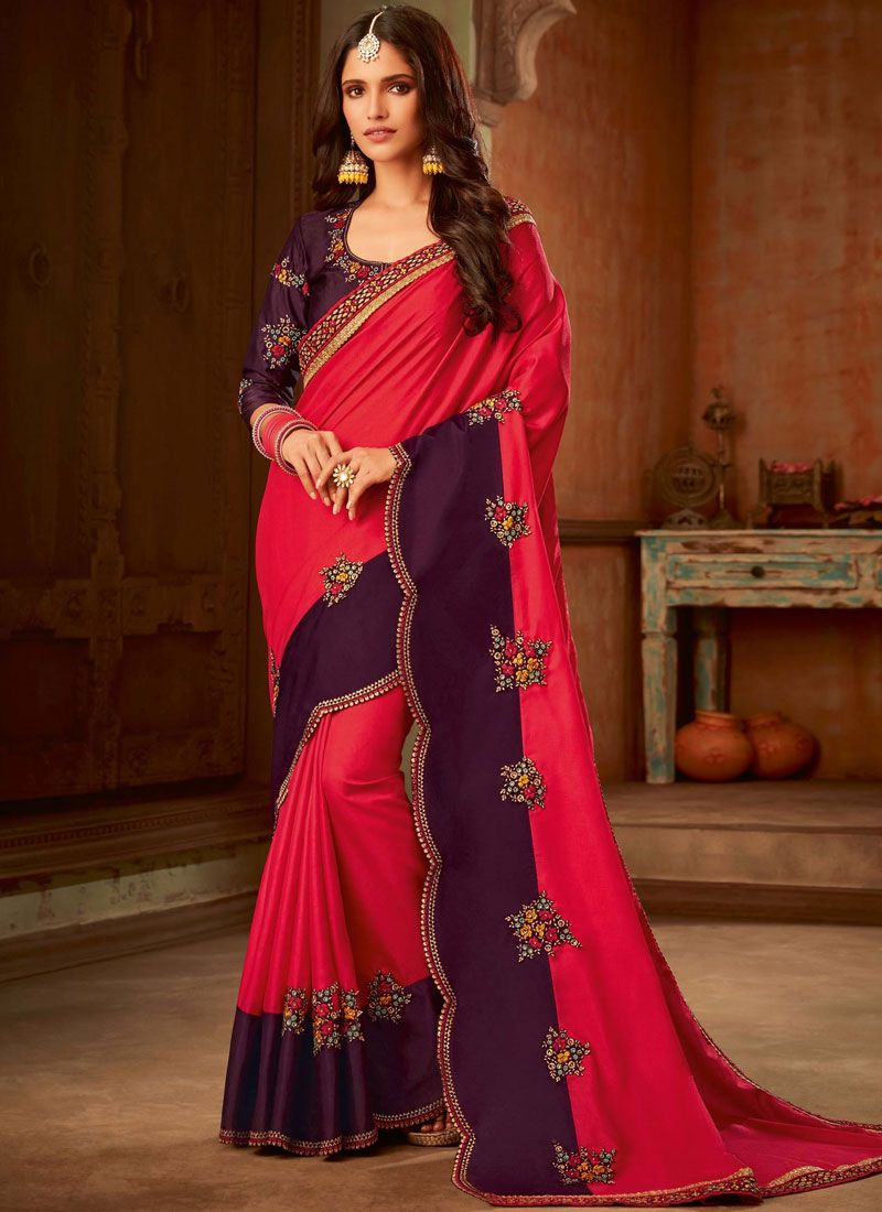 Hot Pink Manipuri Silk Classic Saree