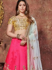 Hot Pink Mehndi Lehenga Choli