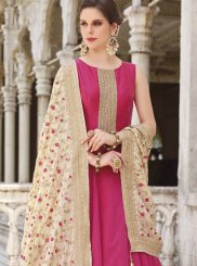 Hot Pink Readymade Anarkali Suit
