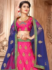 Hot Pink Sangeet Trendy Lehenga Choli