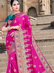 Hot Pink Traditional Designer Saree