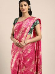 Hot Pink Traditional Saree