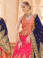 Hot Pink Weaving Art Silk Designer Lehenga Choli