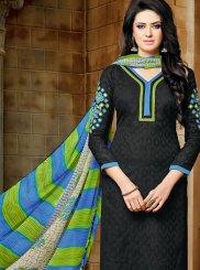 Jacquard Black Salwar Suit
