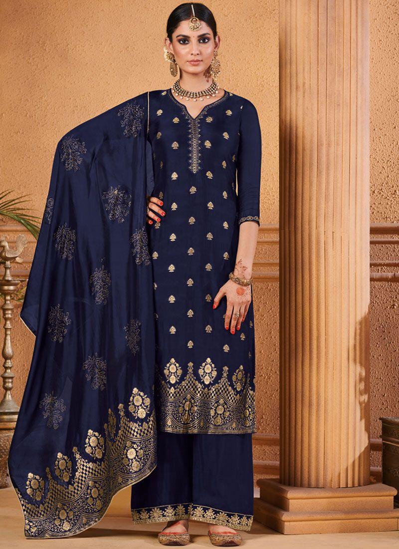 Jacquard Designer Palazzo Suit