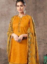Jacquard Digital Print Trendy Patiala Suit