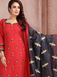 Jacquard Embroidered Churidar Salwar Kameez