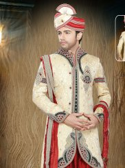Jacquard Embroidered Gold Indo Western