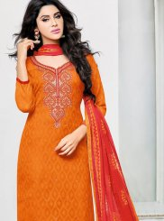 Jacquard Orange Salwar Kameez