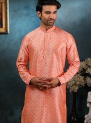 Jacquard Pink Embroidered Indo Western