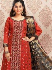 Jacquard Sangeet Churidar Salwar Kameez