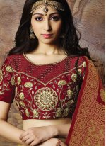 Jacquard Silk Designer Lehenga Choli in Yellow