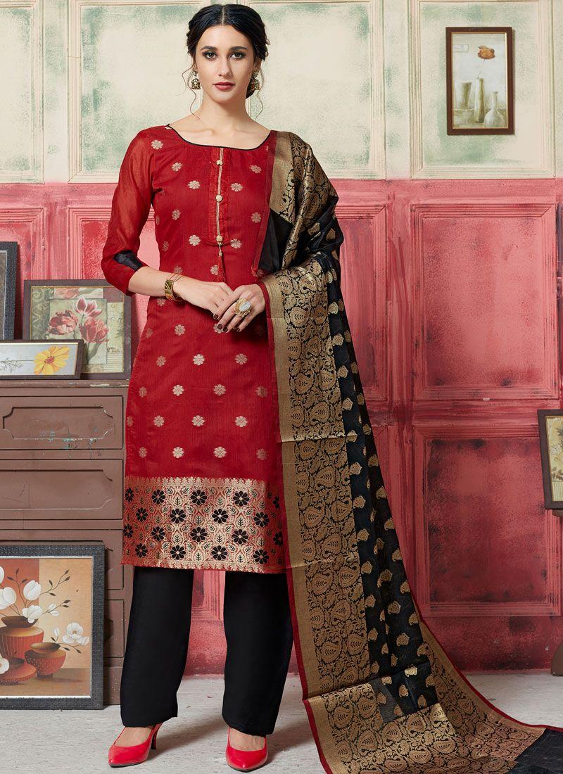 Jacquard Silk Designer Suit