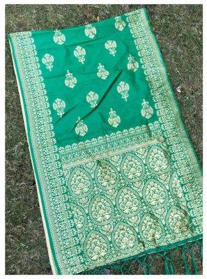 Jacquard Silk Green Stole