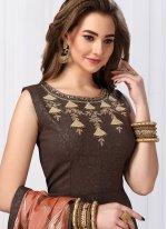 Jacquard Silk Handwork Anarkali Salwar Kameez