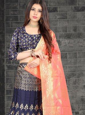 Jacquard Silk Lehenga Choli
