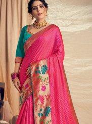 Jacquard Silk Party Silk Saree