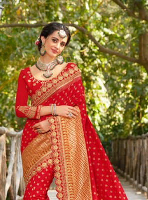 Jacquard Silk Sangeet Designer Traditional Saree