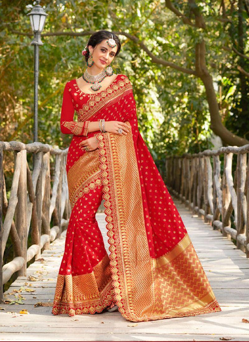 Jacquard Silk Sangeet Designer Traditional Saree