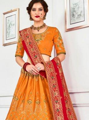 Jacquard Silk Sangeet Lehenga Choli