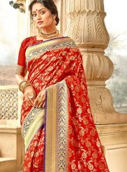Jacquard Silk Weaving Traditional Designer Saree
