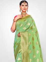 Jacquard Silk Weaving Traditional Saree