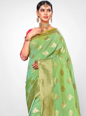 Jacquard Silk Weaving Traditional Saree