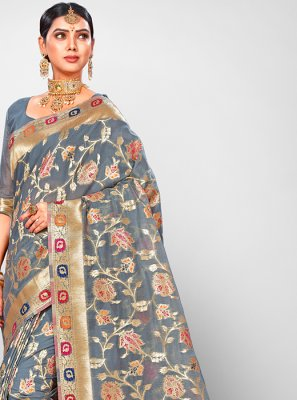 Jacquard Silk Wedding Traditional Designer Saree