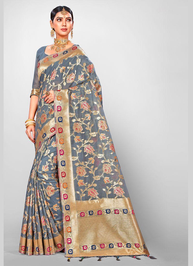 Jacquard Silk Wedding Traditional Designer Saree