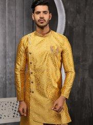 Jacquard Yellow Indo Western