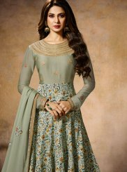 Jennifer Winget Faux Georgette Wedding Floor Length Anarkali Suit