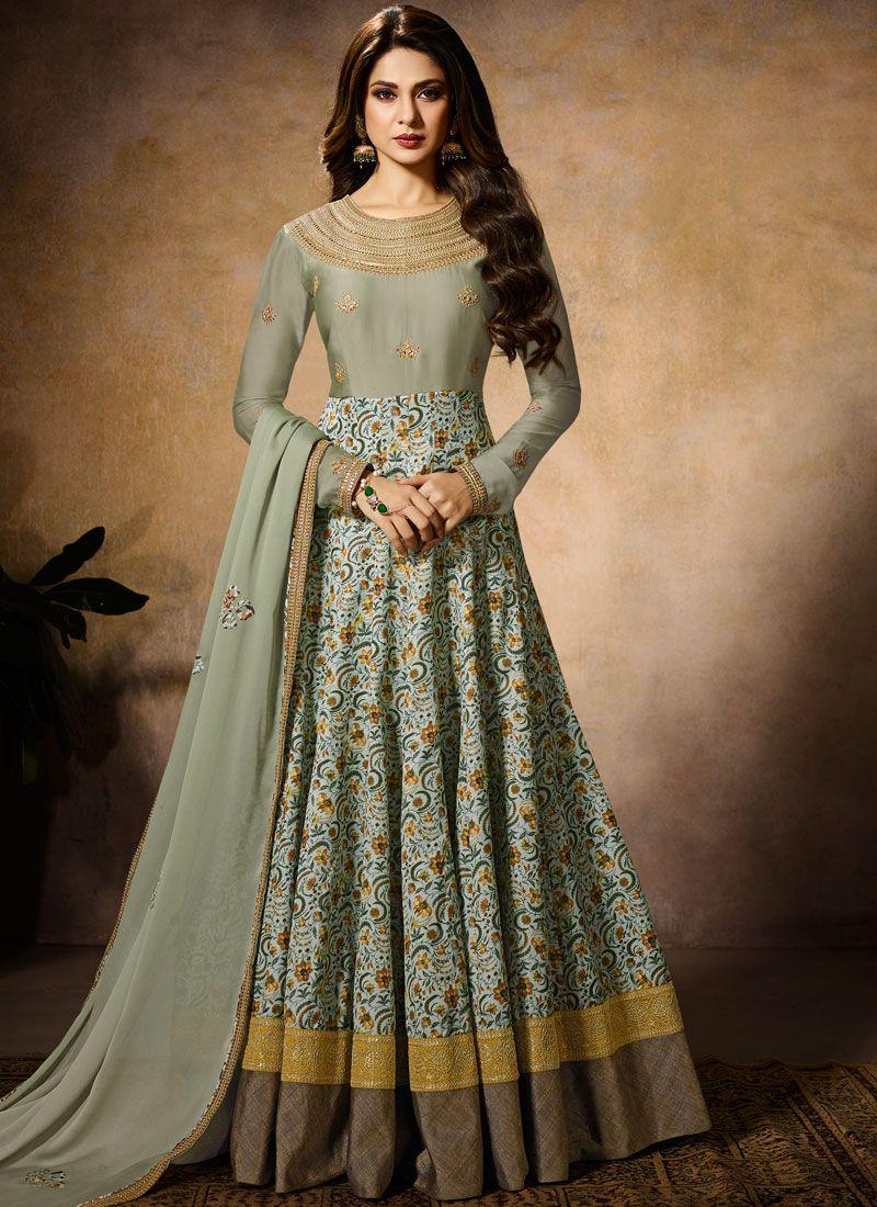 502df769f6 Buy Jennifer Winget Faux Georgette Wedding Floor Length Anarkali Suit    101258 -