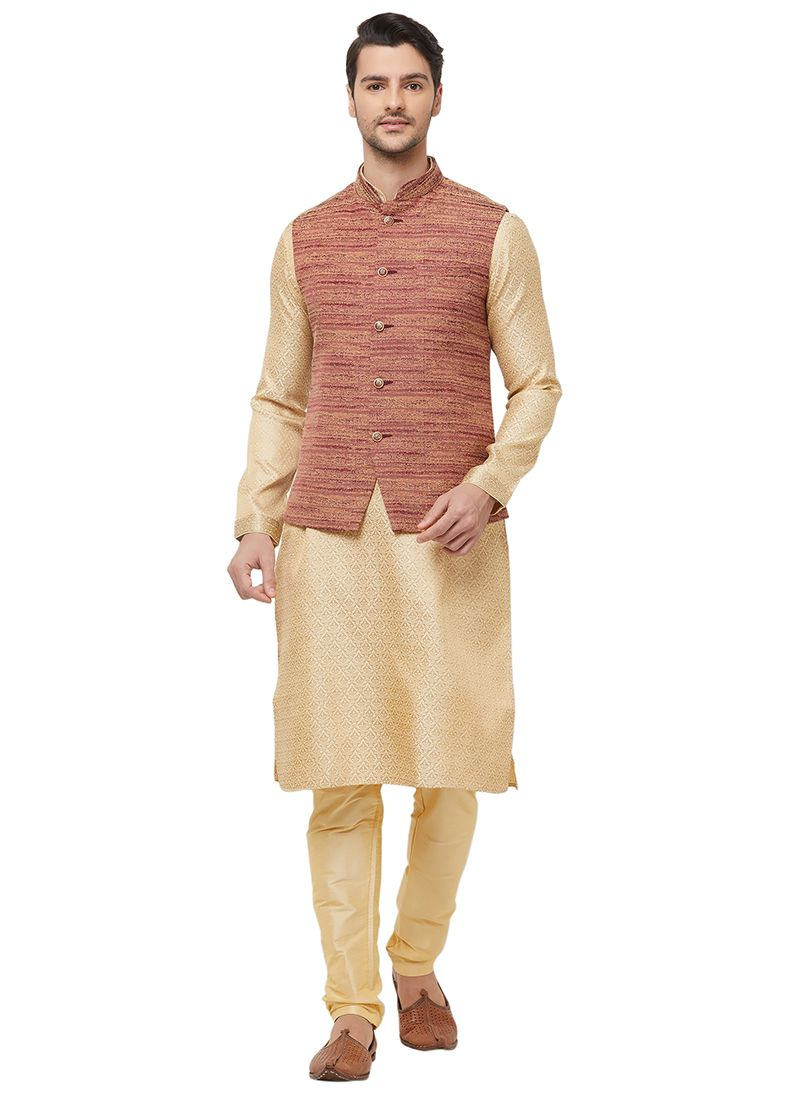 Jute Brown Nehru Jackets