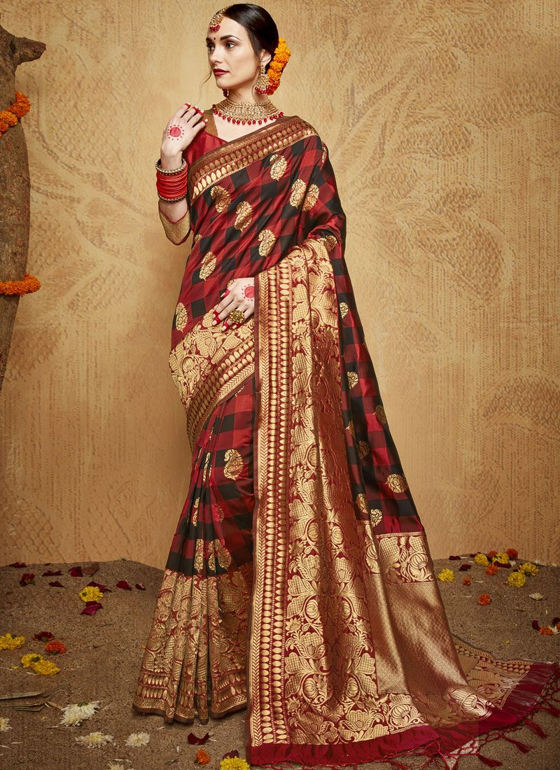 a1fd52f8f3 Buy Online Kanchipuram Silk Weaving Designer Traditional Saree : 106028 -