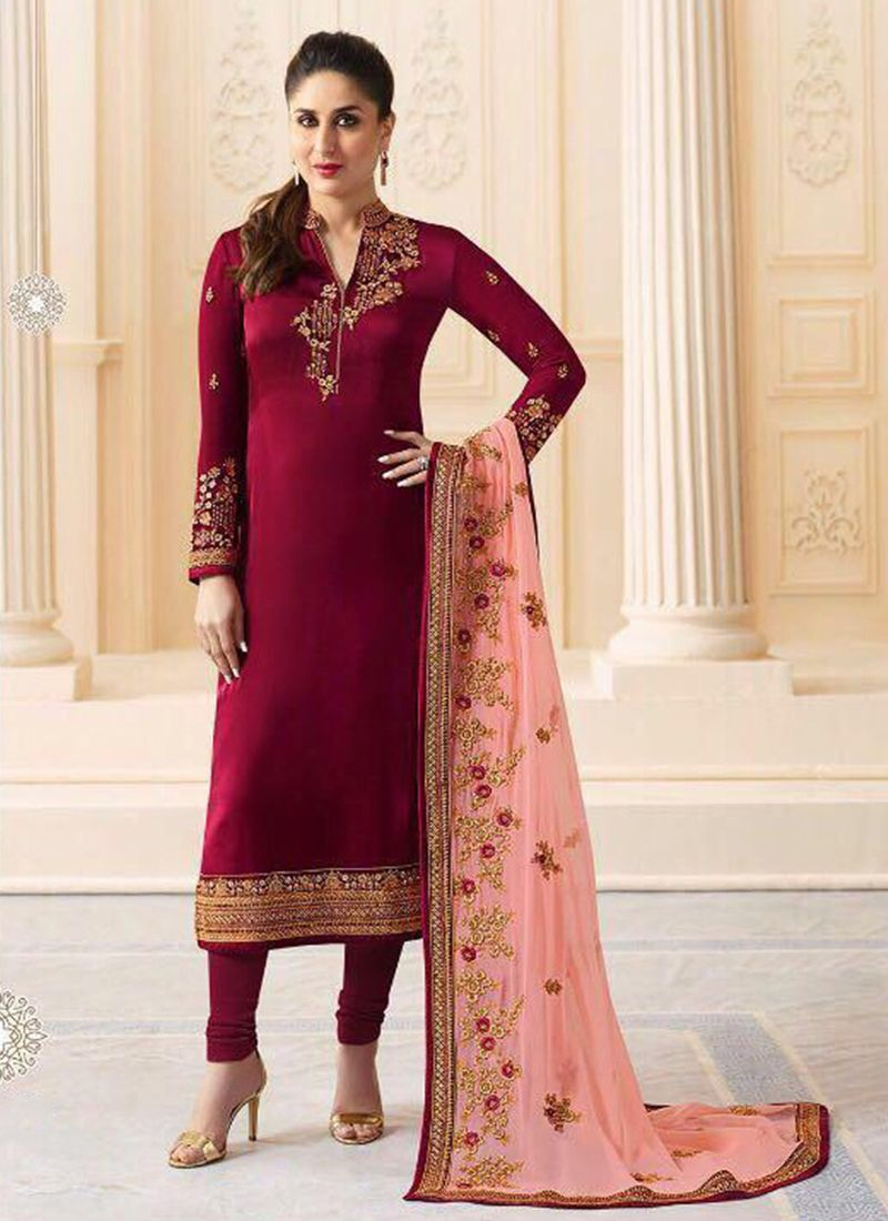 Kareena Kapoor Embroidered Churidar Salwar Kameez