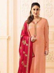 Kareena Kapoor Satin Churidar Designer Suit