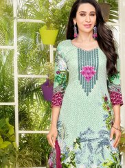 Karishma Kapoor Abstract Print Multi Colour Pant Style Suit