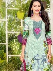 Karishma Kapoor Abstract Print Multi Colour Pant Style Suit