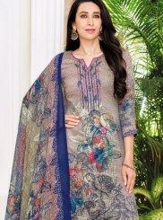 Karishma Kapoor Satin Abstract Print Pant Style Suit