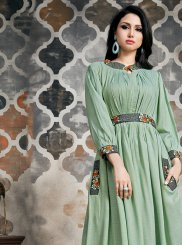 Khadi Party Wear Kurti in Green