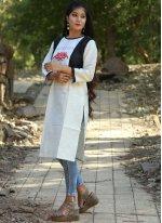 Khadi Party Wear Kurti in White