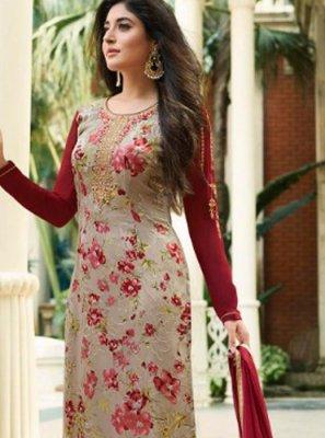 Kritika Kamra Beckoning Beige Designer Straight Suit