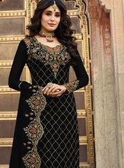Kritika Kamra Black Festival Churidar Designer Suit
