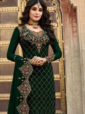 Kritika Kamra Faux Georgette Churidar Designer Suit