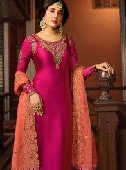 Kritika Kamra Georgette Satin Rani Resham Churidar Designer Suit