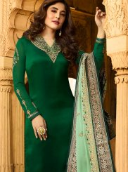 Kritika Kamra Green Embroidered Churidar Designer Suit