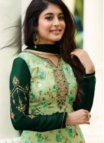 Kritika Kamra Intriguing Green Designer Straight Suit
