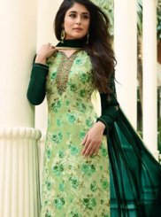 Kritika Kamra Intriguing Green Designer Straight Suit